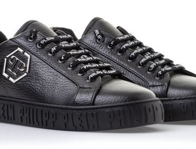 PHILIPP PLEIN  – BLACK LEATHER נעליים