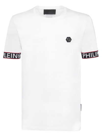 PHILIPP PLEIN טי שירט בצבע לבן דגם CUT ROUND NECK STATEMENT