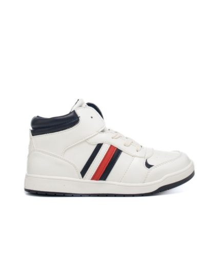 TOMMY HILFIGER נעל בצבע לבן דגם SNEAKERS ALTE BAMBINO