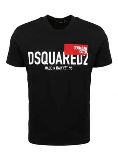 DSQUARED2 טי שירט בצבע שחור דגם Icon logo Dsquared2